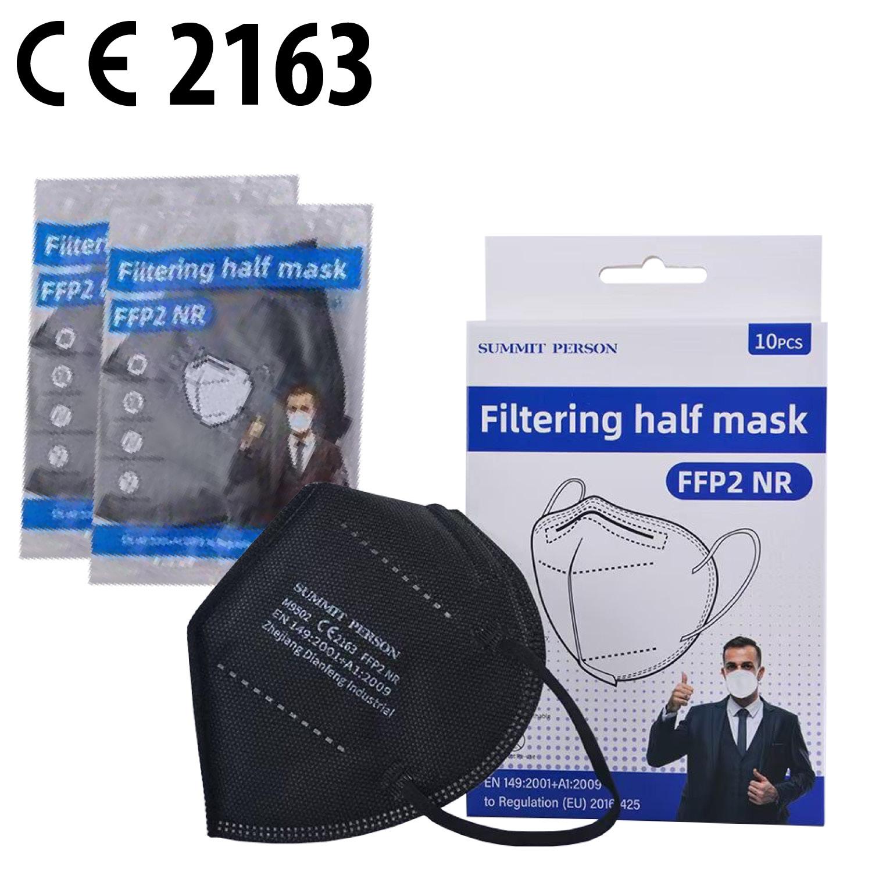 FFP2 Schutzmaske 1er Blister in 10er Box, Fb. schwarz
