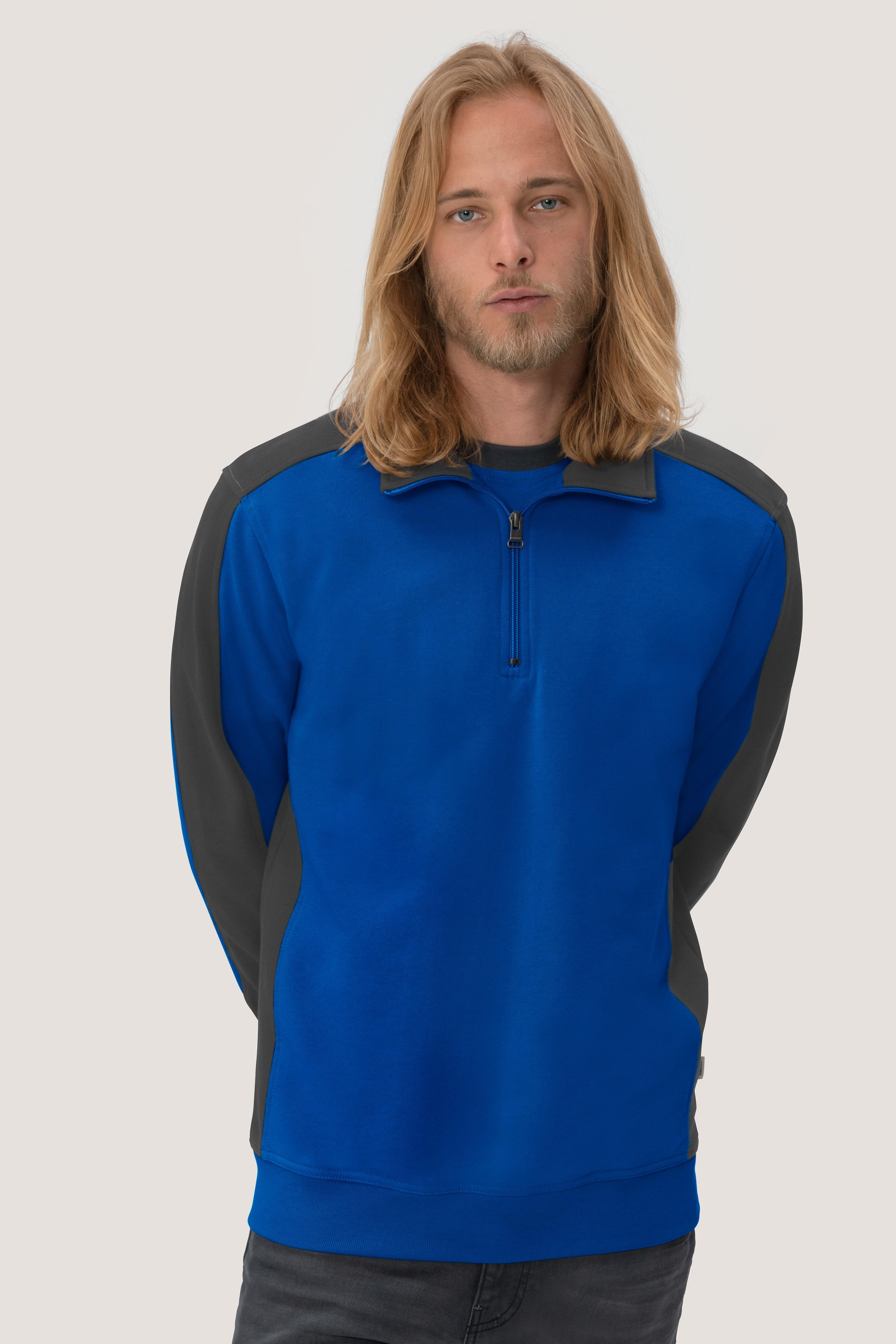 Hakro Zip-Sweatshirt Kontrast