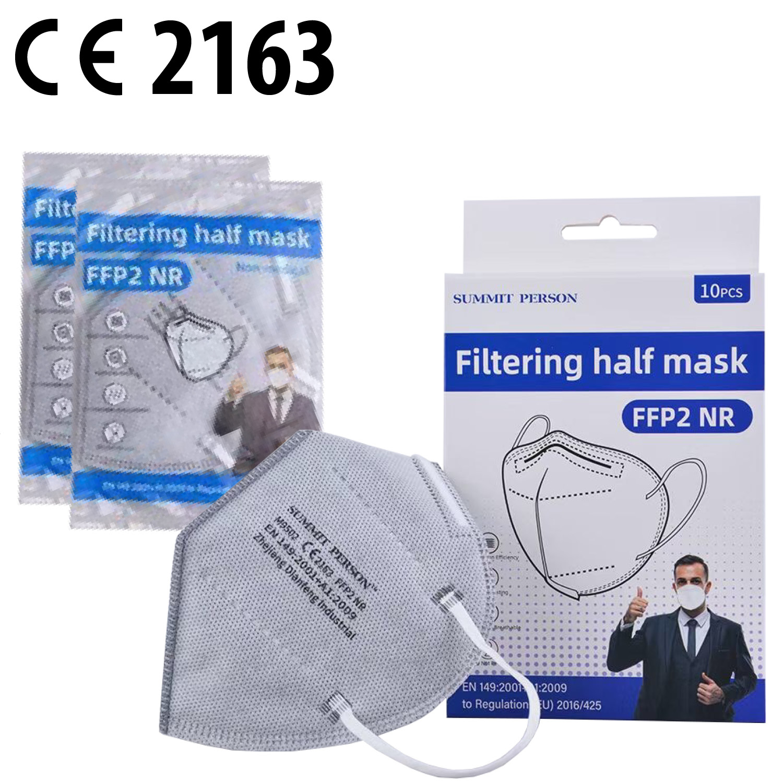 FFP2 Schutzmaske 1er Blister in 10er Box, Fb. grau