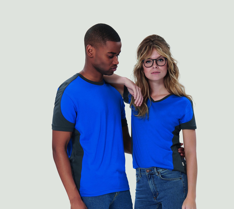 HAKRO Damen V-Shirt Contrast Mikralinar No. 190