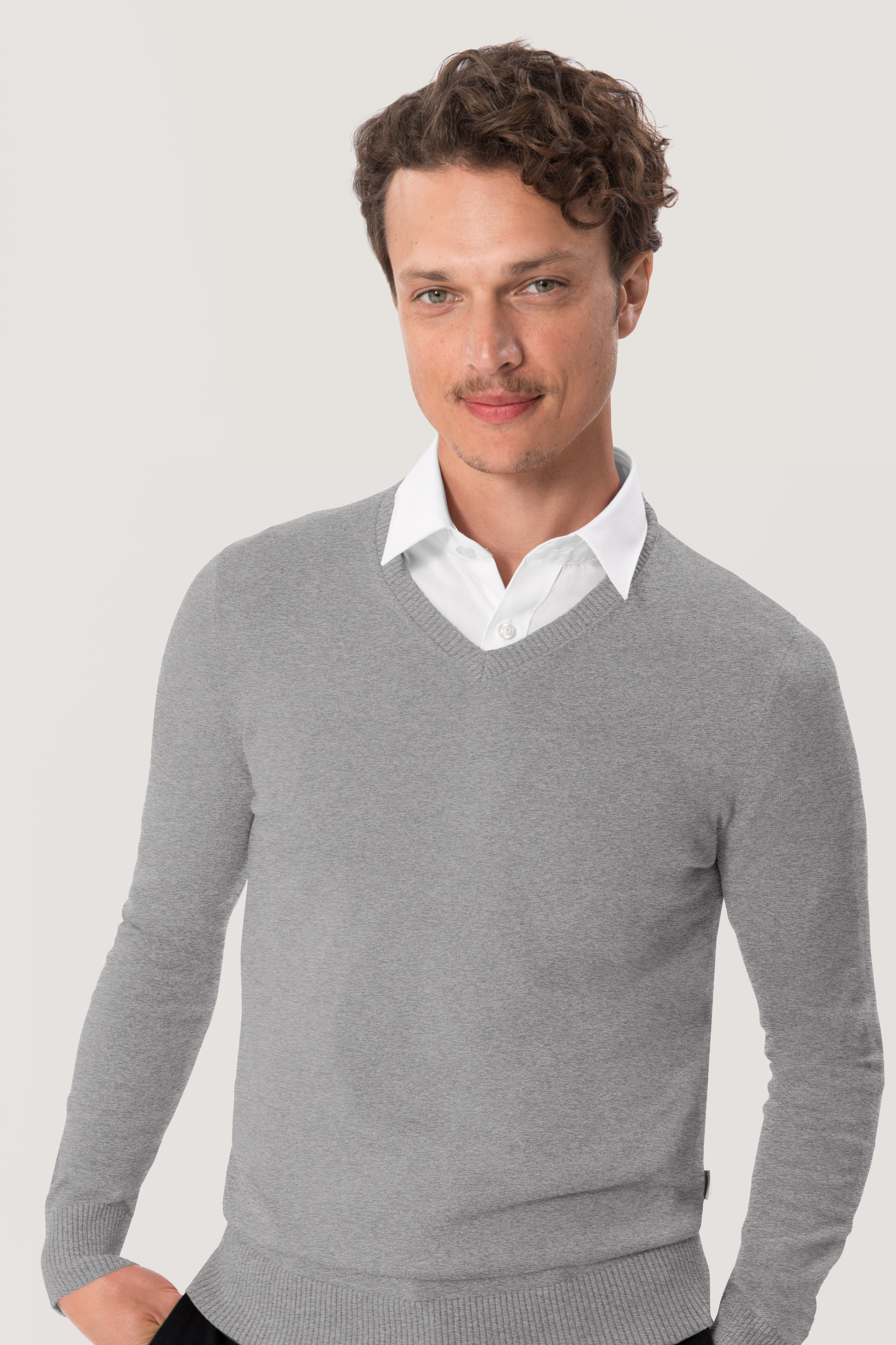 V-Pullover Premium Cotton von Hakro No. 143