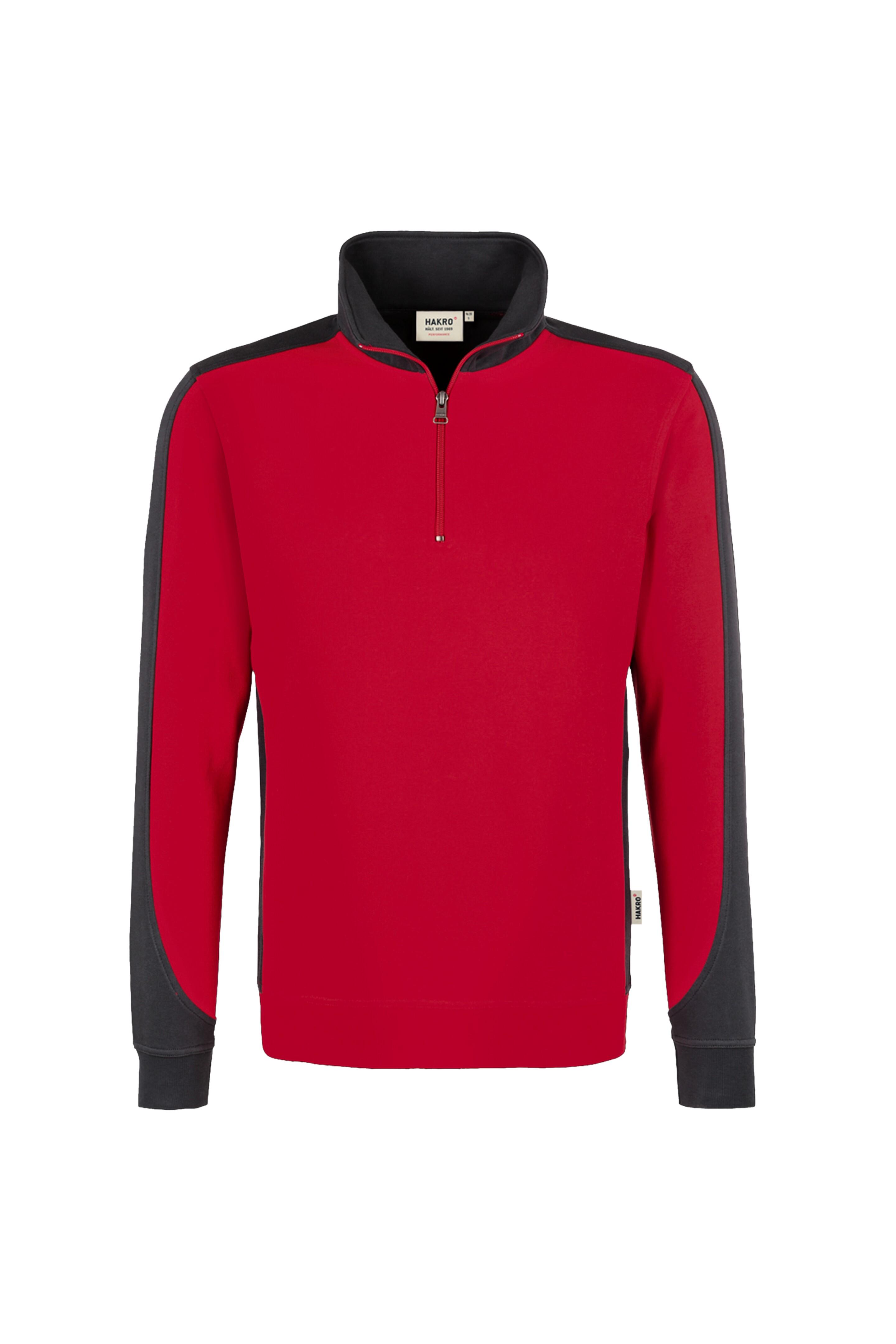 HAKRO Zip-Sweatshirt Contrast Mikralinar® No. 476