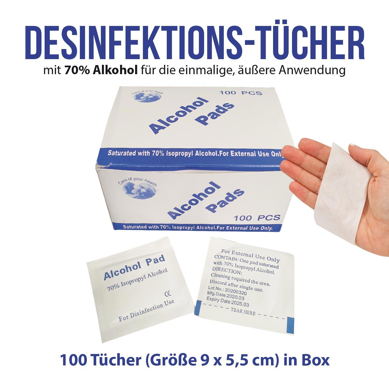 Desinfektionstücher 100 Stück Box