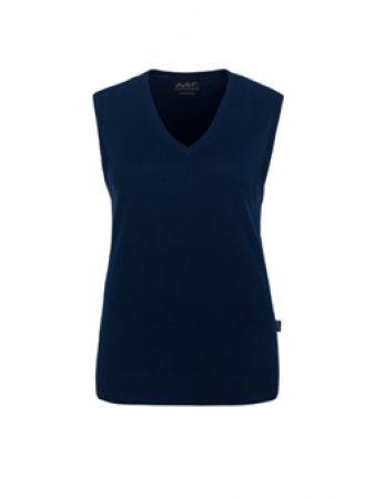 Damen-V-Pullunder aus Baumwolle