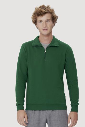 Sweatshirt mit Zip und Troyerkragen