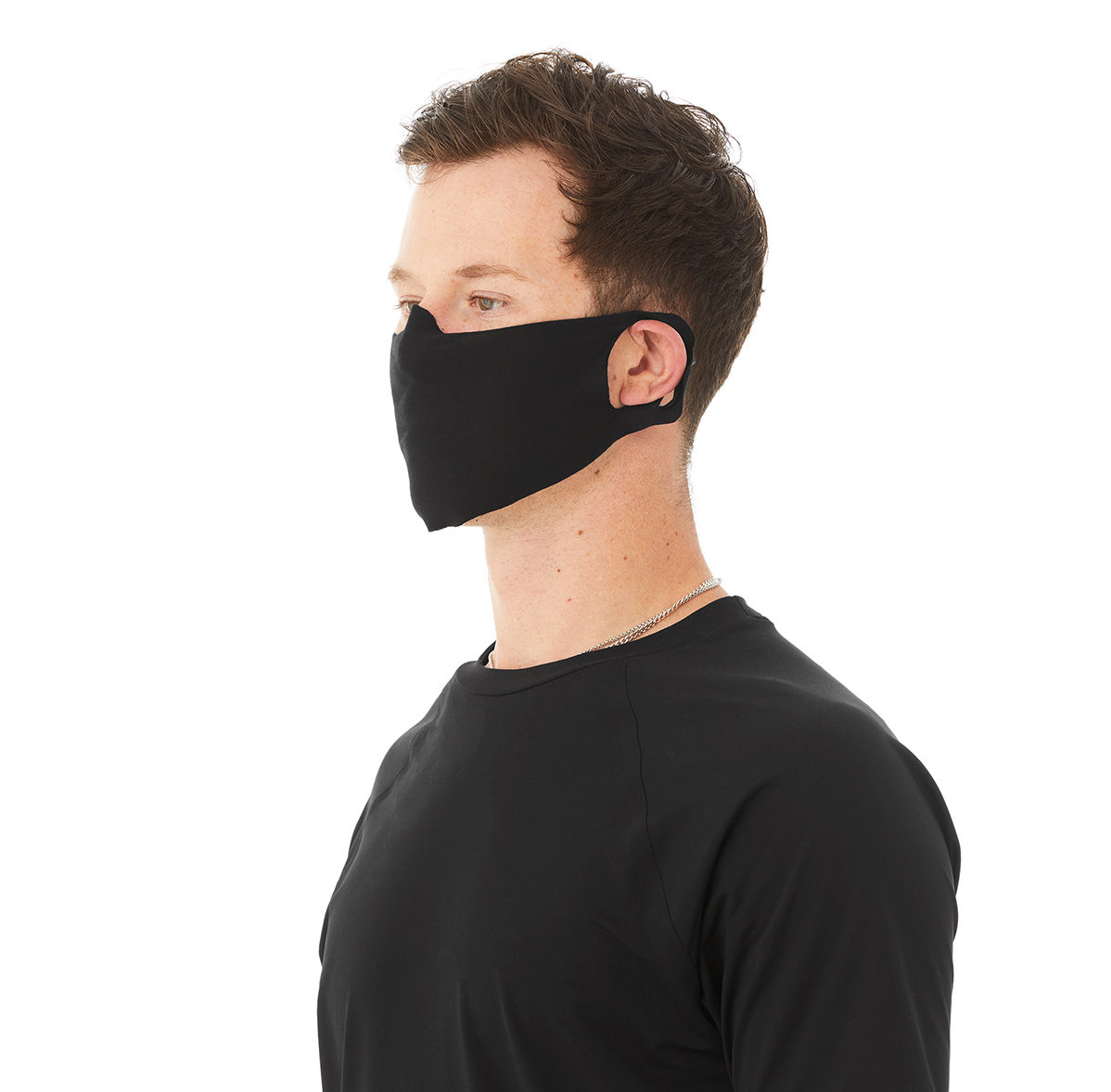 Lightweight daily face cover in schwarz