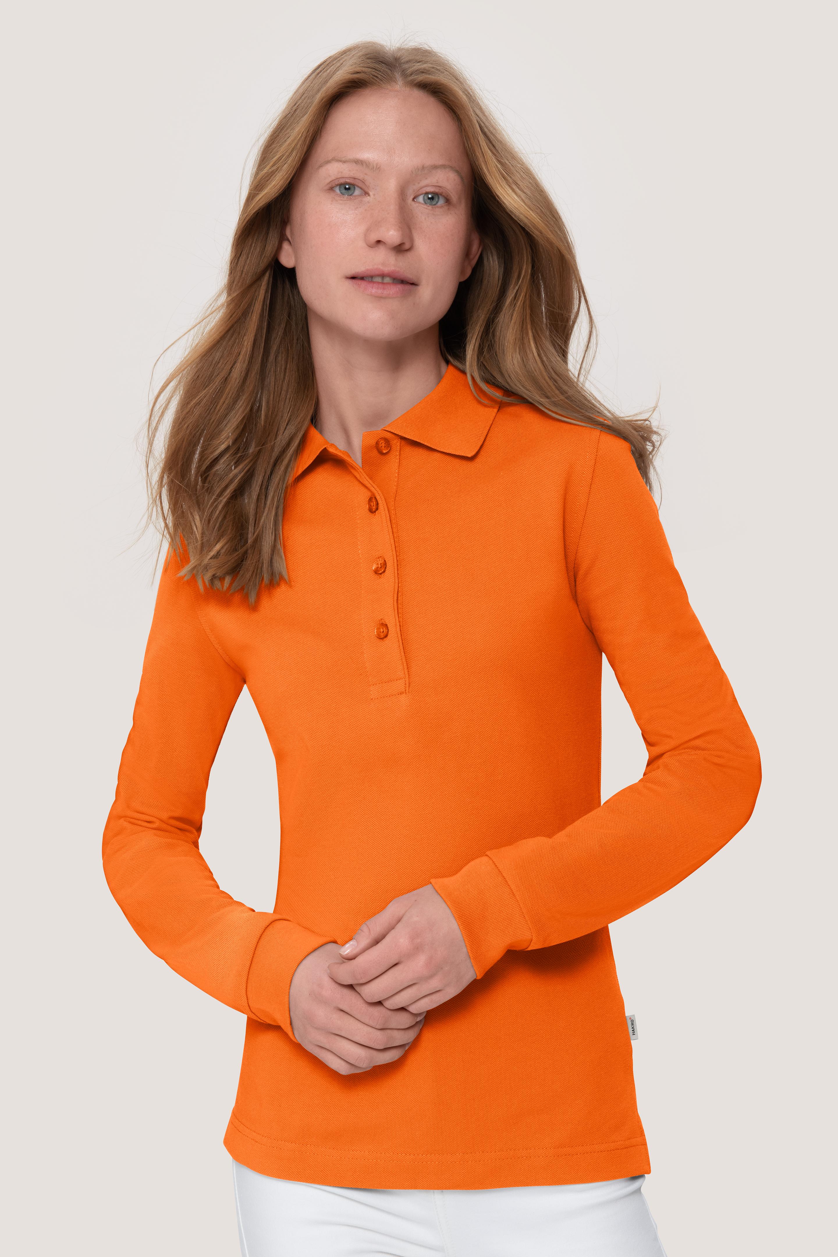 Damen Longsleeve Poloshirt Mikralinar von HAKRO NO. 215