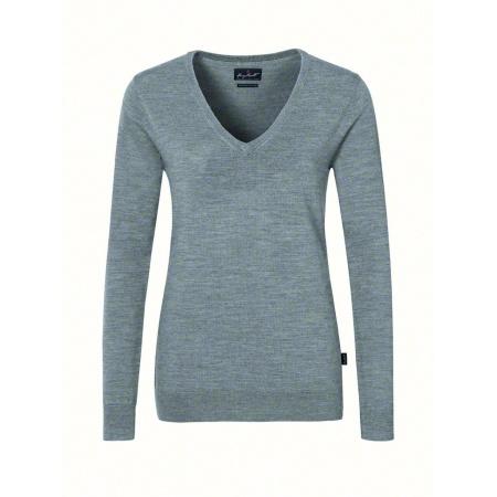Damen V-Pullover Merino Wolle